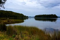 Hidden peaceful lake