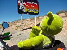 My buddy entering Nevada
