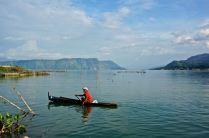 Traditional canoe, Lake Toba