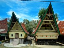 Traditional houses, village on Samosir Island
