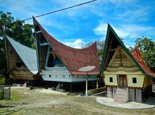Traditional houses, village on Samosir Island