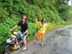 Scooter exploring, Samosir Island