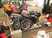 Unpacking Motorcycle crate