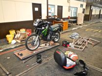 Unpacking Motorcycle crate