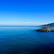 view over black sea in turkey blue water beautiful travel