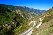 pontic mountains pass motorcycle route road scary travel turkey adventure photography