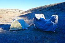 Cold camping in Central Anatolia, Turkey