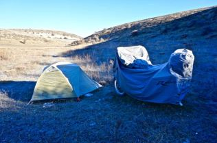 Cold camping in Central Anatolia, Turkey