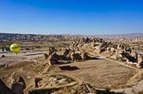 rock formations hot-air balloon cappadocia turkey travel view beautiful hike valley