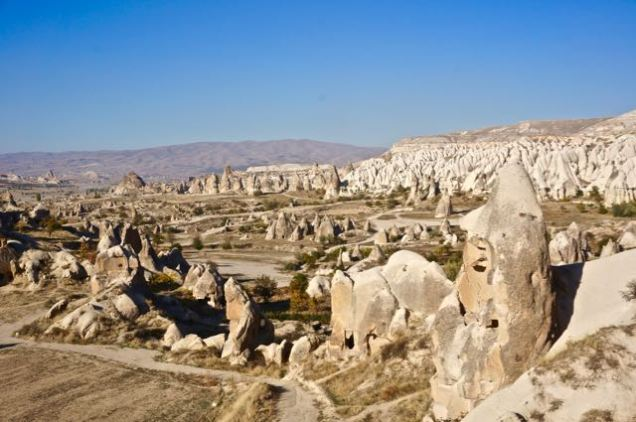 rock formations fairy chimneys cappadocia turkey travel view beautiful hike shapes valley trails adventure
