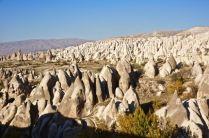 goreme rock formations fairy chimneys cappadocia turkey travel view beautiful hike shapes