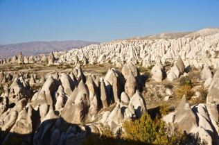 goreme rock formations fairy chimneys cappadocia turkey travel view beautiful hike shapes