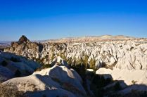 rock formations fairy chimneys cappadocia turkey travel view beautiful hike