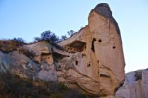 Fairy chimney carved out valley cappadocia turkey travel photography hiking rock formations