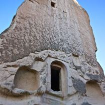 Fairy chimney carved out valley cappadocia turkey travel photography hiking