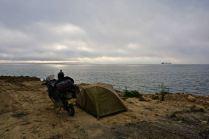 Camping in Gallipoli, Turkey